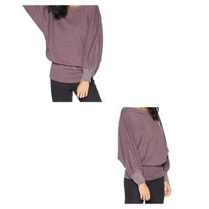 We The Free Long Sleeve Waffle Knit Top L
